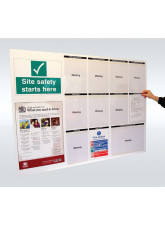 Site Notice Board with Doc Wallets (Permits to Work) - 5mm PVC - 1430 x 1075mm
