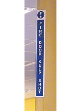Fire Door Keep Shut - Door Edge Sign