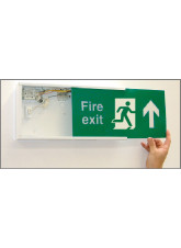 Replace-a-front for Emergency Lighting Fascia