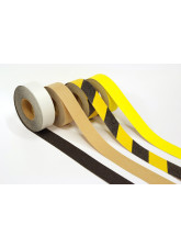 Anti Slip Tape - Black/Yellow Hazard - 18m x 50mm